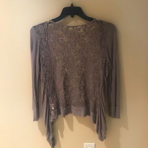 Urban Outfitters Small Lace Back Grey Cardigan
